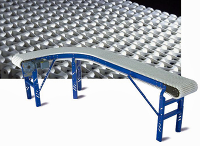 Plain Belt Curve Plastic Chain Conveyor