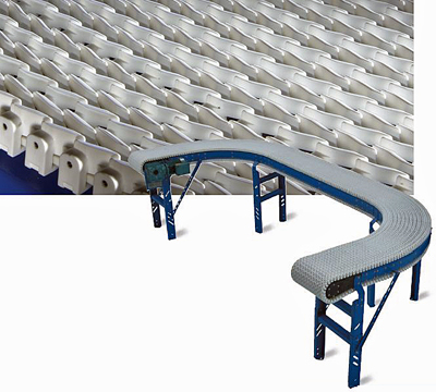 Dual raised plastic chain conveyors