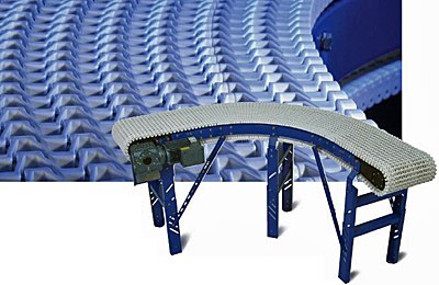 CV-PLN Curving Plastic Chain Conveyor