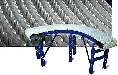 CV-RAS Plastic Chain Curve Conveyor