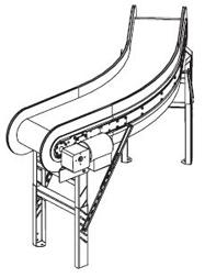 Span Tech Curve Plastic belt conveyors
