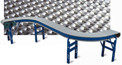 Offset dual curve conveyor