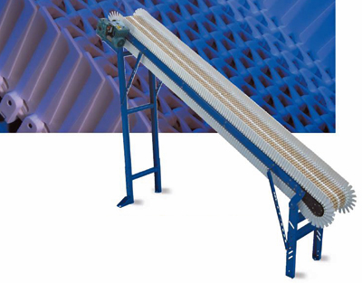 ID-MSG moving side guide incline plastic belt conveyor