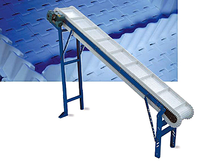 ID-PMS Pusher cleat moving-side guide plastic belt incline conveyor