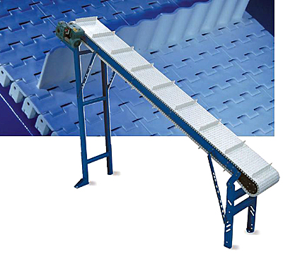 ID-PSC Pusher cleat chain plastic belt conveyor