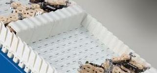 Bulk product in plastic belt incline conveyor