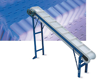 ID-SMS scoop cleat moving-side guide cleated incline conveyors