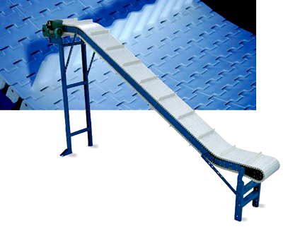 VO-PSC Pusher Cleat Chain Incline Plastic Belt Conveyor