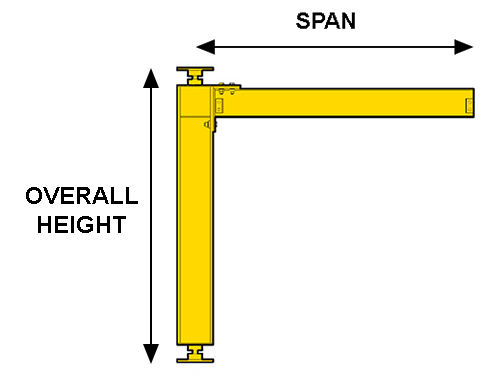 cantilever mast jib crane spec illustration
