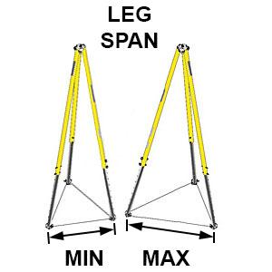 tripod leg span