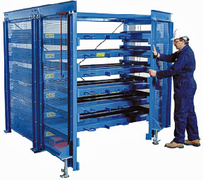 Pull-out sheet metal rack