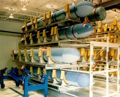 Storing missiles in a defense application