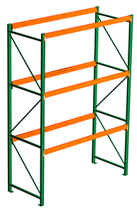 Steel King Pallet Rack, No Decking