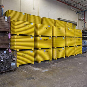 Bulk Metal Stacking Containers Large Steel Bins