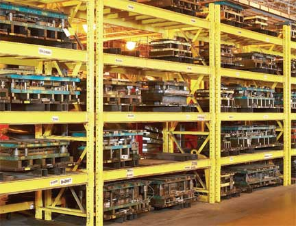 Die Racks Motor Storage Racking Heavy Tool Rack Systems