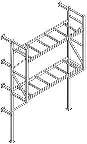 Single Leg Dock Door Rack Design