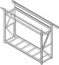 Ceiling Mounted Rack Design