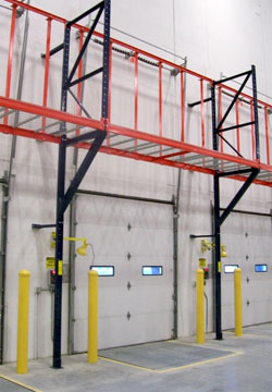 Empty Pallet Storage Racks Dock Door Overhead Racking
