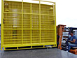 temporary fencing loaded onto flatbed truck