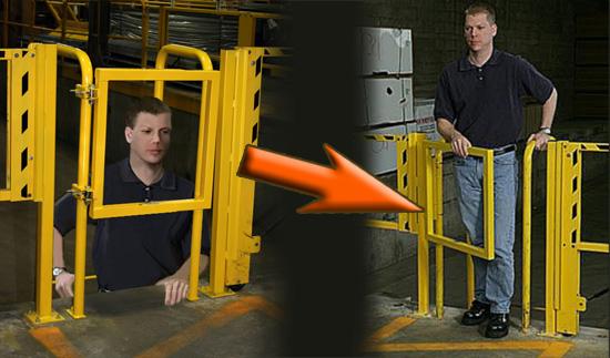 Mezzanine safety gate pedestrian swing manual