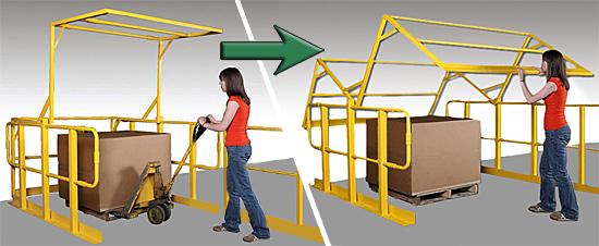 Safety Rails For Mezzanine : Pivot roll up safety gates mezzanine raised