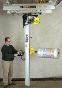 vertical mast handling arm