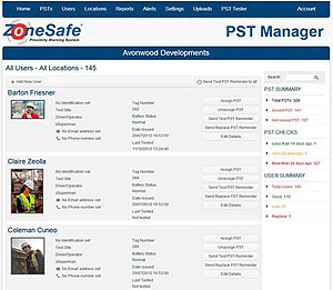 ZoneSafe Web Software