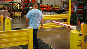 Forklift Aisle Safety Gate Automated Warehouse