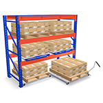Roll-Out Pallet Rack Shelves