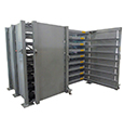 Folding Roll-Out Sheet Metal Storage