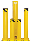 Save-ty Yellow Bolt-Down Bollards