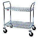 Wire Utility Shelf Cart Medium Duty