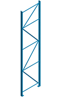 Structural Pallet Rack - Steel King, Upright Frames