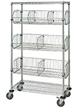 Wire Shelving with Baskets