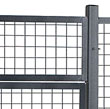 Welded wire security cages and partitions