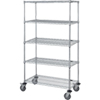 Mobile Wire Shelving Unit