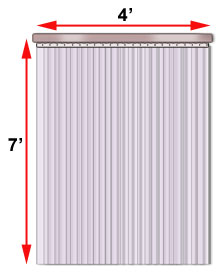 Ready To Hang Clear PVC Strip Doors And Curtains For Warehouses Docks Factories Freezers More