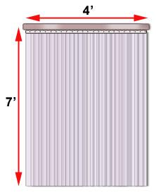 Plastic Door Strips >> Industrial Plastic Strip Curtains Doors Pvc Vinyl Cisco Eagle