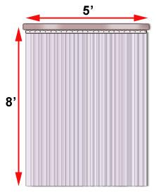 Plastic pvc strip curtains doors cisco eagle for 10x10 access door