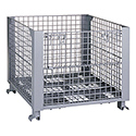 Metal stacking wire container