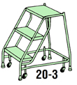Welded Steel Mobile Ladder Stands
