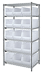 Wire Shelving with Clear View Bins