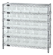 Wire Shelving with Economy Clear View Bins