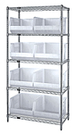 Wire Shelving with Clear View Giant Hoppers