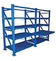 Roll-Out Sheet Metal Rack Shelving
