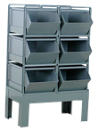Stacking Rack with Bins