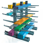 Extra high capacity cantilever rack