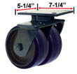 RWM Industrial Caster |76 Series Dual Casters with Wheels