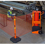 Portable Safety Zone Barricade System
