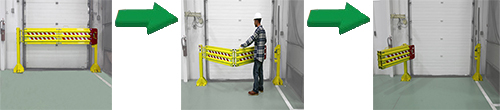 Folding Rail Dock Safety Gates